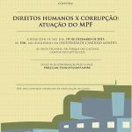 Cartaz Seminário CorrupçãoxDireitos Humanos site
