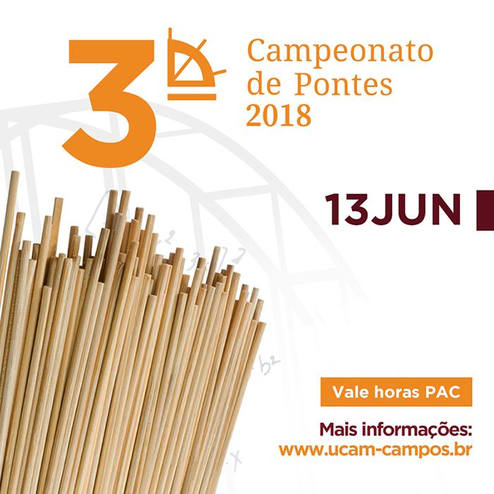Teste de cargas do Campeonato de Pontes acontece na próxima quarta – 13 de junho