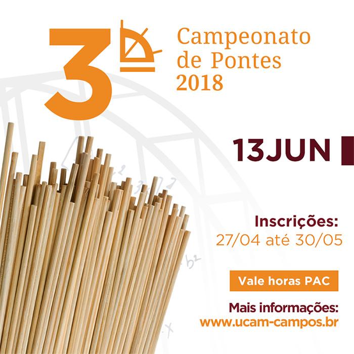 Abertas inscrições para Campeonato de Pontes 2018