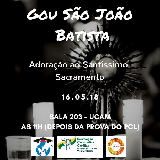 Encontro do GOU São João Batista acontece nesta quarta – 16 de maio