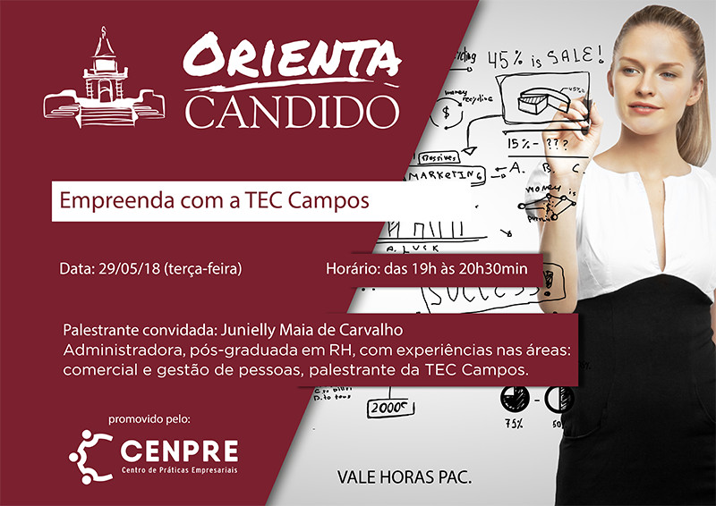 Orienta Candido trará incubadora de empresas para palestra sobre empreendedorismo – 29 de maio