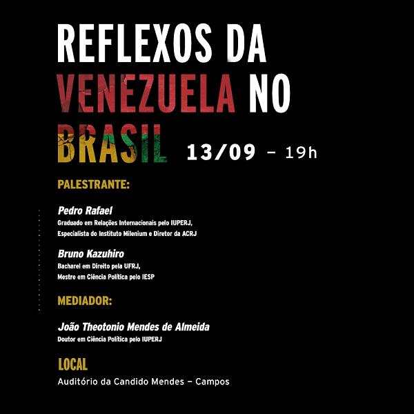 Evento no dia 13 de setembro discutirá crise na Venezuela e seus impactos no Brasil