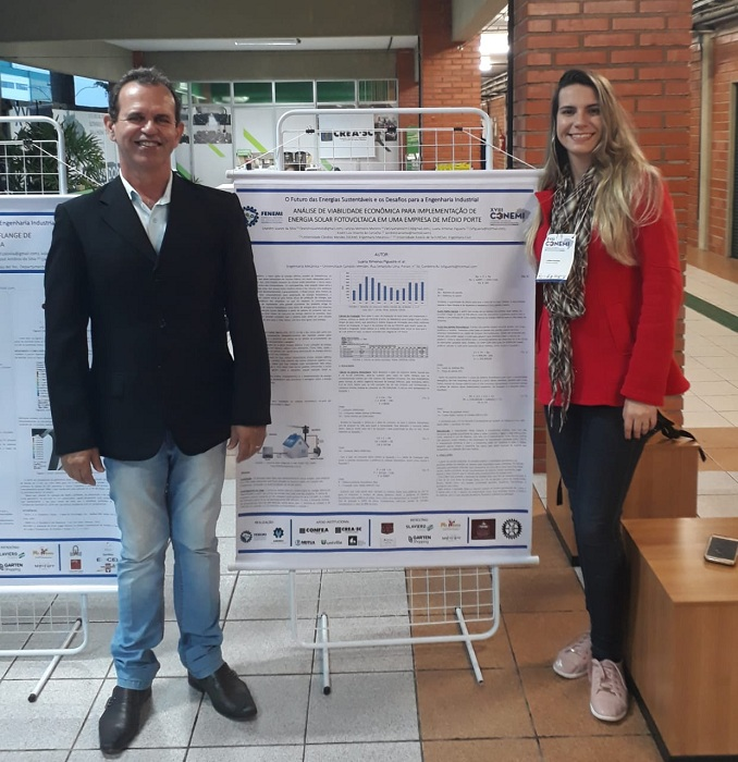 Professor e aluna de Engenharia Mecânica publicam artigos em importante congresso