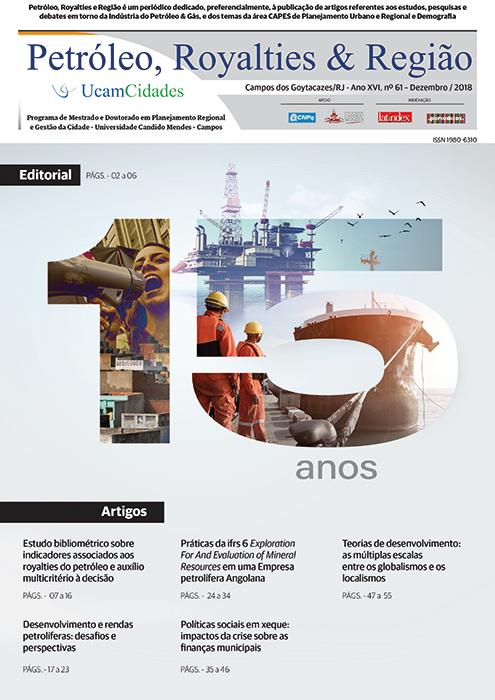 Disponível edição de dezembro do Boletim Petróleo, Royalties e Região
