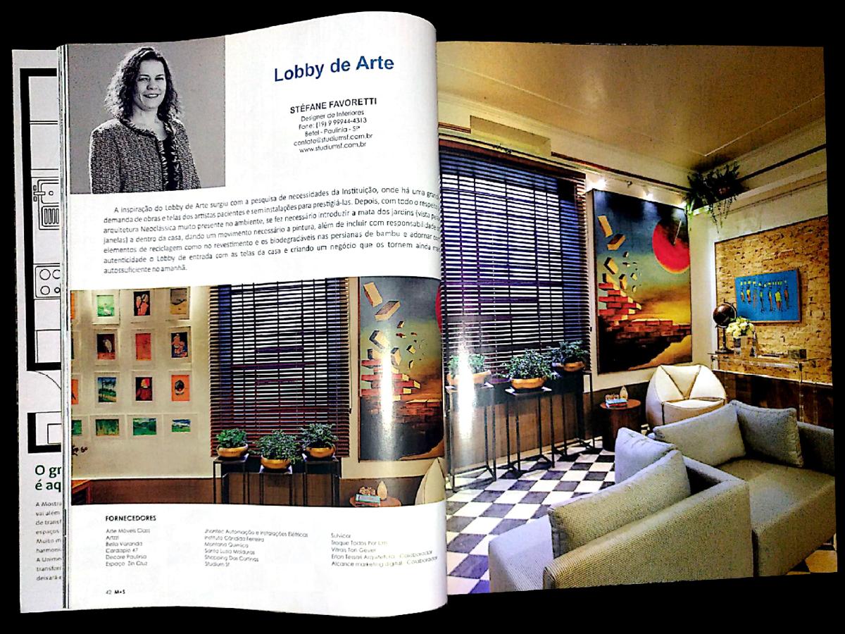 Ex-aluna de Design de Interiores do ITECAM tem seu espaço publicado em revista de importante evento da área