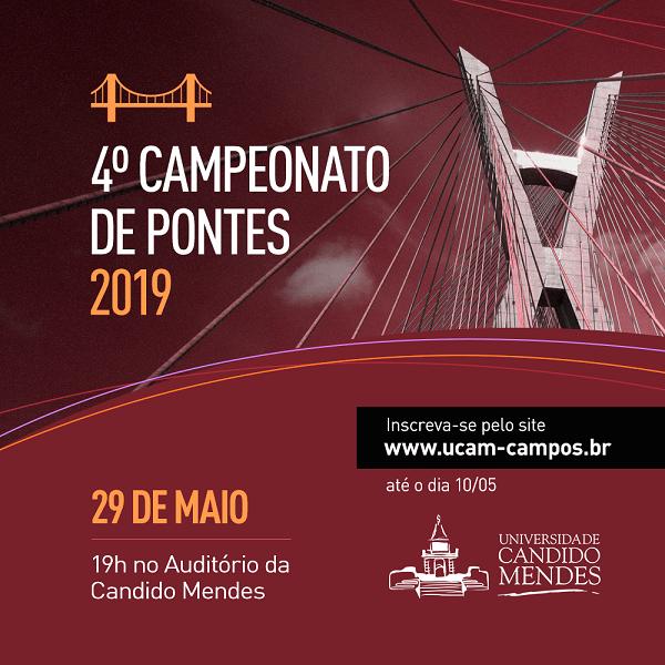 Abertas inscrições para o IV Campeonato de Pontes da Universidade
