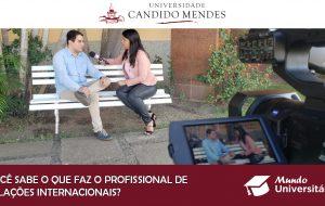 Você sabe o que o profissional de Relações Internacionais faz?