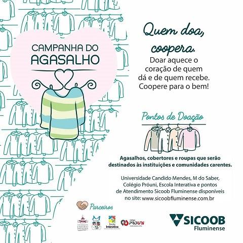 UCAM se junta ao Sicoob na Campanha do Agasalho