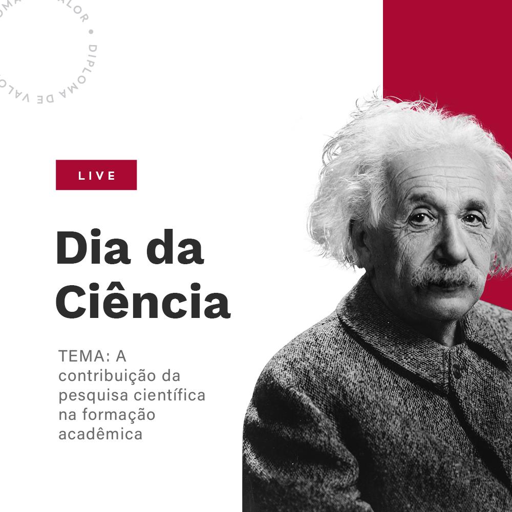 Live sobre pesquisa científica na formação acadêmia celebra Dia da Ciência