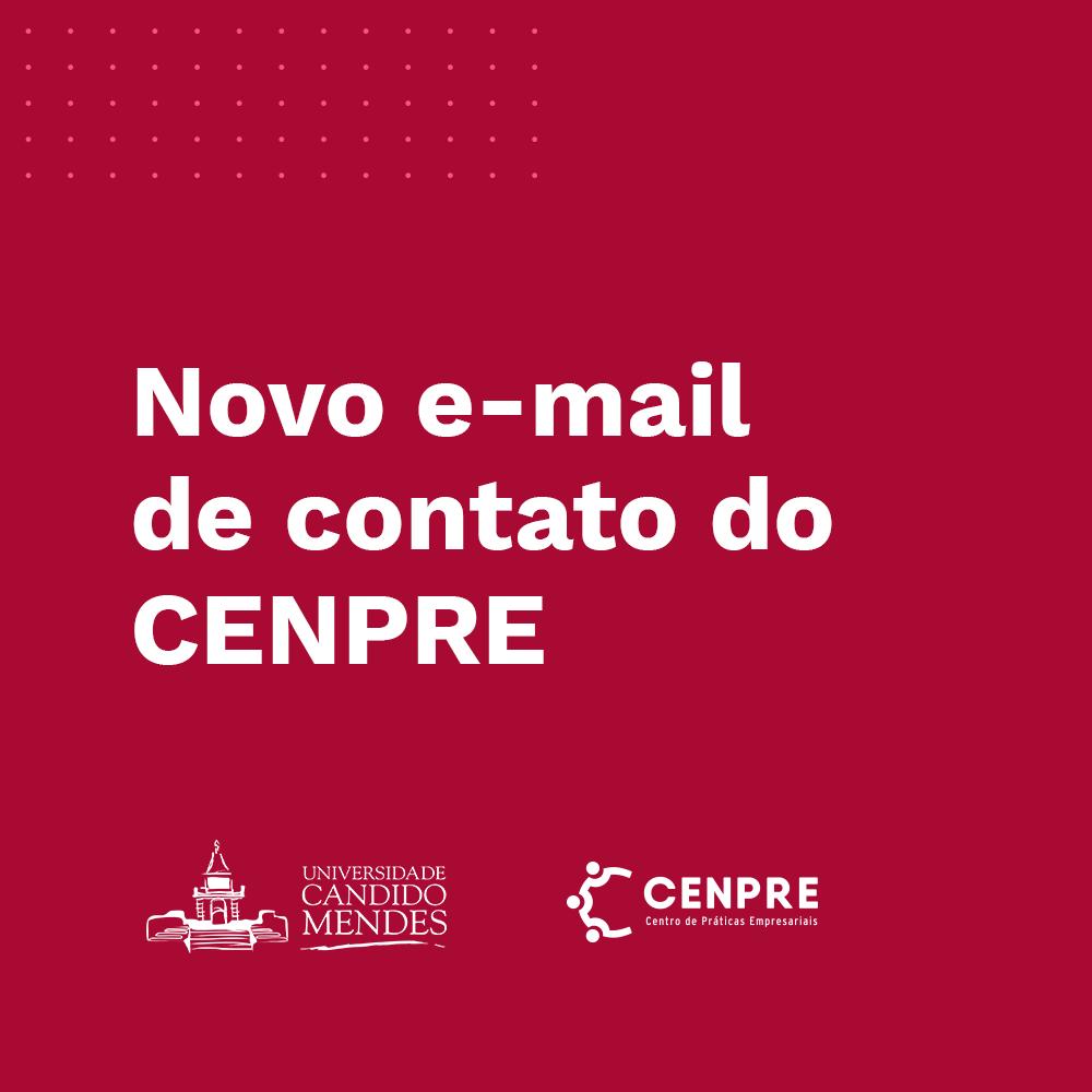 Novo e-mail de contato do CENPRE